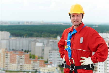 builder worker at construction site Stock Photo - 10816014