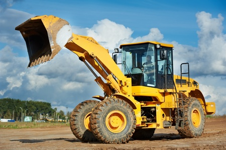 loaders: construction loader excavator Stock Photo