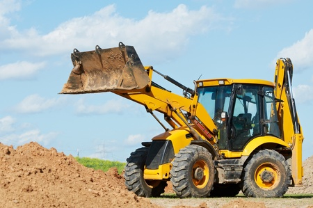 excavation: Excavator Loader with backhoe works