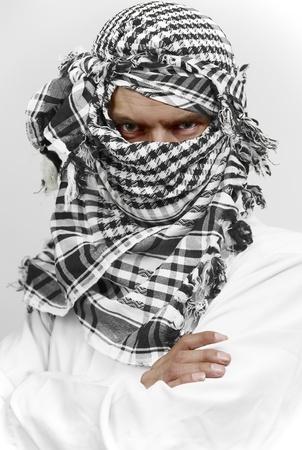 venganza: Stern, �rabe musulm�n en shemagh kaffiyeh
