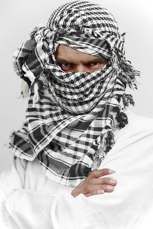 Stern arab muslim in shemagh kaffiyeh Stock Photo - 10919361