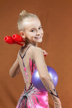 Gymnast young girl photo