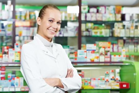 Pharmacy chemist woman in drugstore Stock Photo - 11006455
