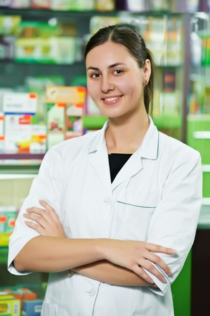 Pharmacy chemist woman in drugstore Stock Photo - 11006463