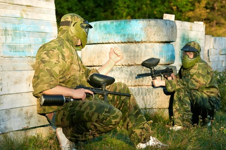 gunfire: two paintball players