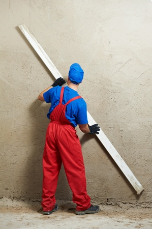 parget: Plasterer at work