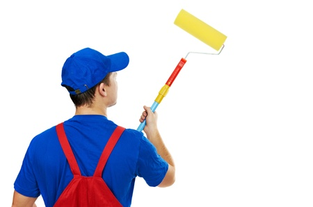 painter man in uniform with paint roller Stock Photo - 11304766