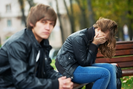 relationship difficulties of young people couple Stock Photo - 11304768