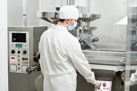 pharmaceutical factory worker Stock Photo - 11701995