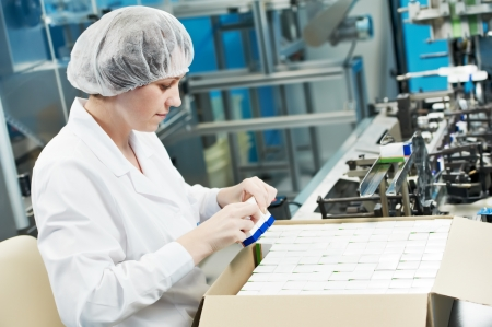pharmaceutical factory worker Stock Photo - 11701994