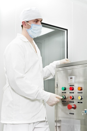 pharmaceutical factory worker Stock Photo - 11701978
