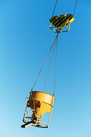 hoisting construction equipment for concrete photo