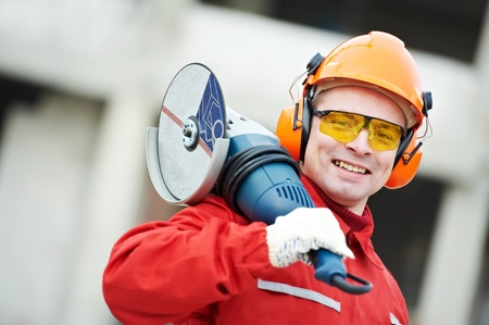 builder worker at construction site photo
