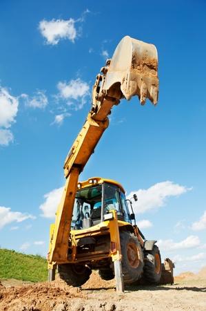 backhoe: Excavator Loader with backhoe works