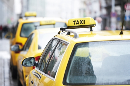 yellow taxi cab cars Stock Photo - 11980720