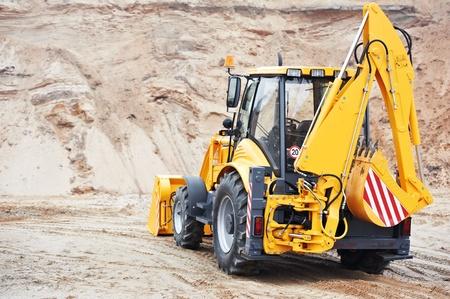 Excavator Loader with backhoe works Stock Photo - 12283536