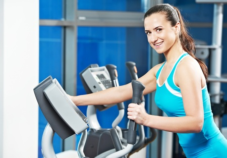 Happy woman with at training gym Stock Photo - 12283496