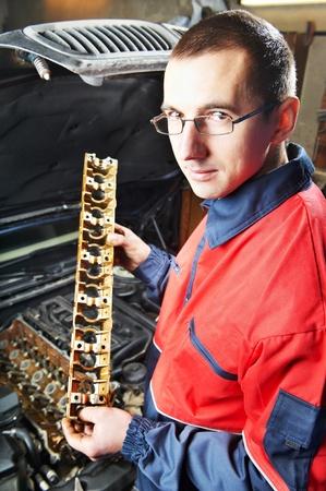 gudgeon: machanic repairman at automobile car engine repair Stock Photo