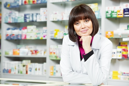 Pharmacy chemist woman in drugstore Stock Photo - 12283499