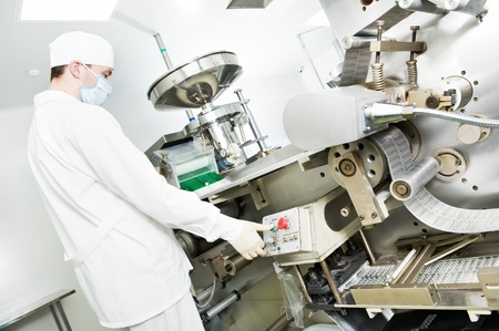 pharmaceutical plant: pharmaceutical factory worker