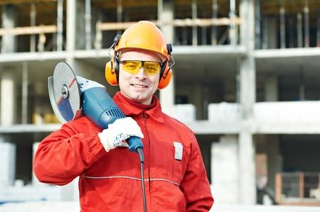 bouwer werknemer op de bouwplaats Stockfoto