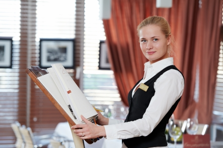 20s waitress: restaurant manager woman at work place