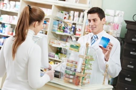 pharmaceutic: medical pharmacy drug purchase Stock Photo