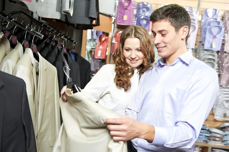 Young peoples shopping at clothes store Stock Photo - 12589734