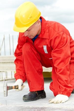 mounter: builder making construction works