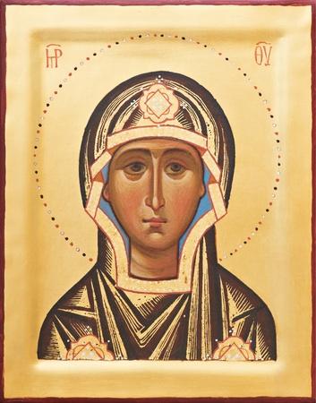 Religious Orthodox icon of The God mother photo
