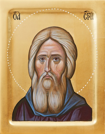 russian easter: Orthodox icon of Holy Father Sergius Of Radonez