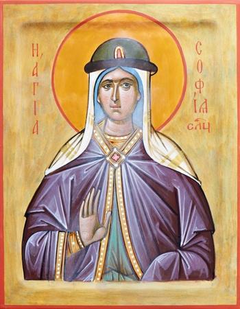 saintliness: Icon of saint Sophia of Slutsk