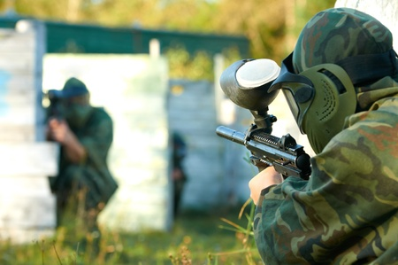 gunfire: paintball player under attack