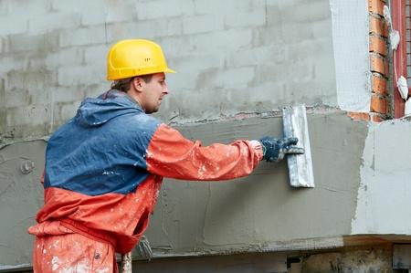 tavolozza pittore: Gessatura Facciata sul posto di lavoro