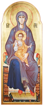 Mother of God Vergin Mary and Jesus Christ photo
