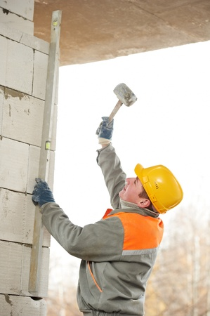 construction mason worker bricklayer Stock Photo - 12961630