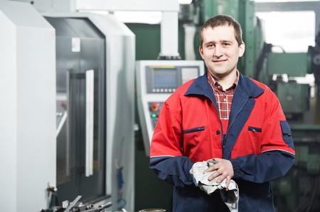 fettler: trabajador en el taller de la herramienta Foto de archivo