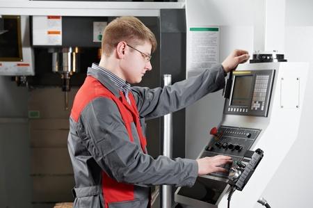 laborer working with machine tool Stock Photo - 12961663