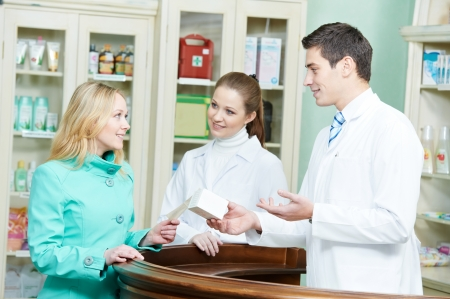 druggist: medical pharmacy drug purchase Stock Photo