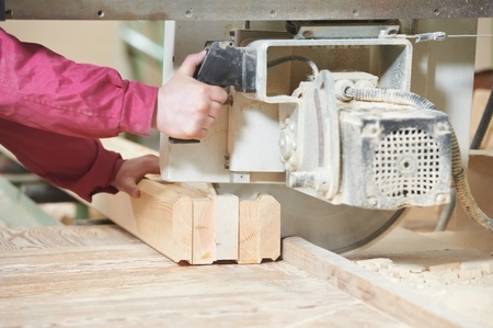 closeup carpentry wood cross cutting Stock Photo - 13097287