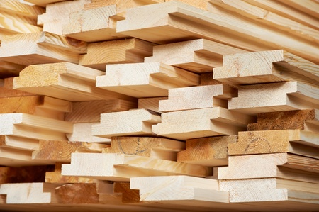 woodworking: Set of wood lumber materials
