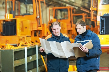 experienced industrial assembler workers Stock Photo - 13097800