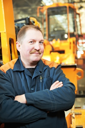 machinist: Portrait of experienced industrial fitter Stock Photo