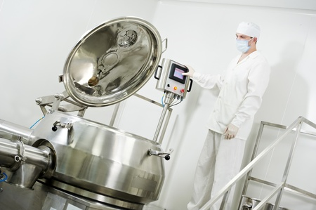 pharmaceutical factory worker Stock Photo - 13110996
