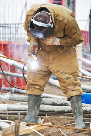 builder worker wellder at work photo