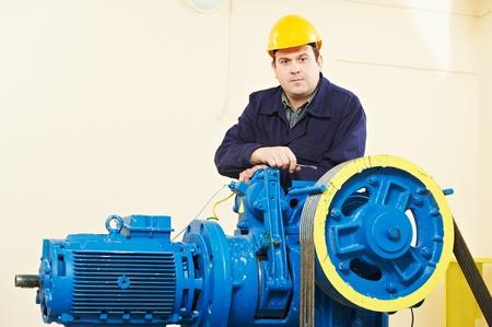 Machinist tuning lift remmen mechanisme Stockfoto