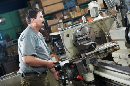 miller: worker at machining tool workshop Stock Photo