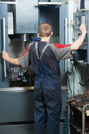 worker at machining tool workshop Stock Photo - 13293603