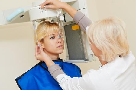 dental clinic: dental teeth digial diagnostic imaging system Stock Photo