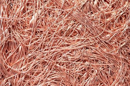 cobre: materiales met�licos de cobre de reciclaje de chatarra backround